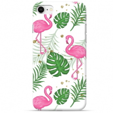 "Iphone SE 2020 TPU dėklas unikaliu dizainu 1.0 mm ""u-case Airskin Flamingos design"""