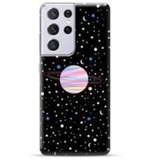 """Samsung Galaxy S21 Ultra TPU dėklas unikaliu dizainu 1.0 mm """"u-case Airskin Planet design"""""""
