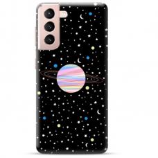 "Samsung Galaxy S21 Plus TPU dėklas unikaliu dizainu 1.0 mm ""u-case Airskin Planet design"""