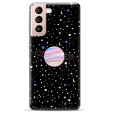 "Samsung Galaxy S21 TPU dėklas unikaliu dizainu 1.0 mm ""u-case Airskin Planet design"""