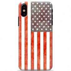 """Iphone X / Iphone XS silikoninis dėklai su paveikslėliu 1.0 mm """"tavotel USA design"""""""