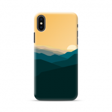 "Iphone X / Iphone XS TPU dėklas unikaliu dizainu 1.0 mm ""u-case Airskin Mountains 2 design"""