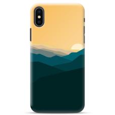 """Iphone Xs max TPU dėklas unikaliu dizainu 1.0 mm """"u-case Airskin Mountains 2 design"""""""