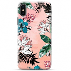 "Iphone X / Iphone XS TPU dėklas unikaliu dizainu 1.0 mm ""u-case Airskin Flowers 1 design"""