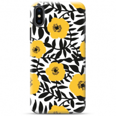 "Iphone X / Iphone XS TPU dėklas unikaliu dizainu 1.0 mm ""u-case Airskin Flowers 2 design"""
