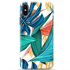 """Iphone Xs max TPU dėklas unikaliu dizainu 1.0 mm """"u-case Airskin Leaves 1 design"""""""