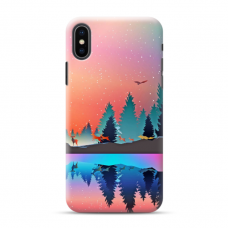 "Iphone X / Iphone XS TPU dėklas unikaliu dizainu 1.0 mm ""u-case Airskin Nature 5 design"""