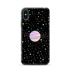 "Iphone X / Iphone XS TPU dėklas unikaliu dizainu 1.0 mm ""u-case Airskin Planet design"""