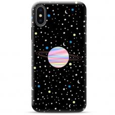 """Iphone Xs max TPU dėklas unikaliu dizainu 1.0 mm """"u-case Airskin Planet design"""""""