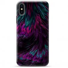 """Iphone Xs max TPU dėklas unikaliu dizainu 1.0 mm """"u-case Airskin Feather design"""""""