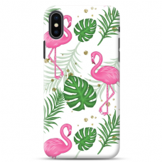 "Iphone X / Iphone XS TPU dėklas unikaliu dizainu 1.0 mm ""u-case Airskin Flamingos design"""