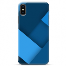 "Iphone X / Iphone XS TPU dėklas unikaliu dizainu 1.0 mm ""u-case Airskin Blue design"""