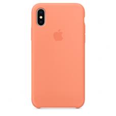 """iPhone X/ XS Dėklas """"apple Silicone case"""" oranžinis"""
