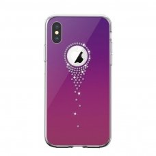 Iphone x / xs dėklas Devia Angel Tears TPU+PC violetinis