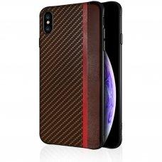 Iphone xr dėklas Mulsae Carbon plastikas rudas
