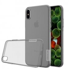 Iphone X/ XS dėklas Nillkin Nature TPU 0,6mm permatomas pilkas