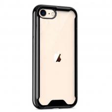 iphone se 2020 dėklas Protect Acrylic PC+TPU juodais kraštais