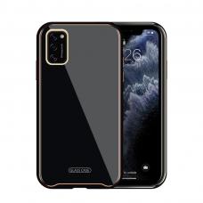 Samsung Galaxy A41 dėklas Glass Case stiklas+tpu juodas