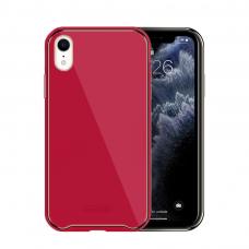 Iphone XR dėklas Glass Case stiklas+tpu rožinis