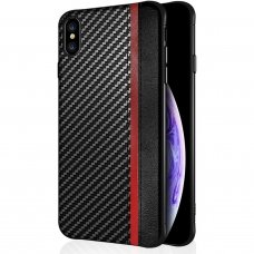 Iphone xs max dėklas Mulsae Carbon plastikas juodas