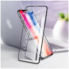 iphone x/xs grūdintas stiklas anti-fingerprint, anti-oil 3d hd juodais kraštais