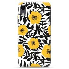 """Iphone XR TPU dėklas unikaliu dizainu 1.0 mm """"u-case Airskin Flowers 2 design"""""""