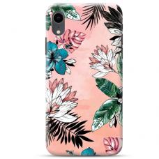 """Iphone XR TPU dėklas unikaliu dizainu 1.0 mm """"u-case Airskin Flowers 1 design"""""""