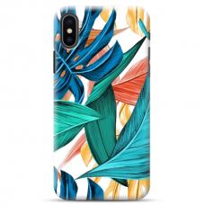 """Iphone XR TPU dėklas unikaliu dizainu 1.0 mm """"u-case Airskin Leaves 1 design"""""""