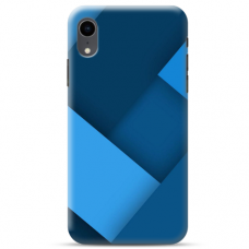 """Iphone XR TPU dėklas unikaliu dizainu 1.0 mm """"u-case Airskin Blue design"""""""