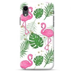 """Iphone XR TPU dėklas unikaliu dizainu 1.0 mm """"u-case Airskin Flamingos design"""""""