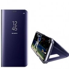 iphone xs max atverčiamas dėklas Clear View veidrodiniu-permatomu dangteliu mėlynas
