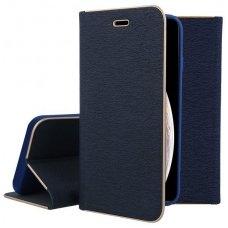 """Iphone xs max atverčiamas dėklas """"Vennus BOOK Z"""" eco oda tamsiai mėlynas"""