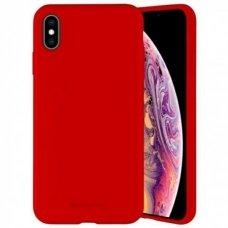 Iphone xs max dėklas MERCURY SILICONE raudonas