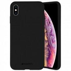 Iphone xs max dėklas MERCURY SILICONE juodas