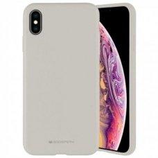 Iphone xs max dėklas MERCURY SILICONE pilkas