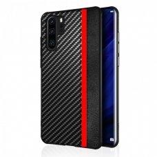 Huawei P30 pro dėklas Mulsae Carbon plastikas juodas