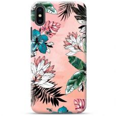 """Iphone Xs MAX TPU dėklas unikaliu dizainu 1.0 mm """"u-case Airskin Flowers 1 design"""""""