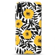 """Iphone Xs MAX TPU dėklas unikaliu dizainu 1.0 mm """"u-case Airskin Flowers 2 design"""""""