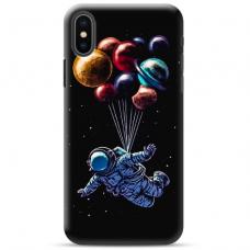 """Iphone Xs MAX TPU dėklas unikaliu dizainu 1.0 mm """"u-case Airskin Cosmo design"""""""