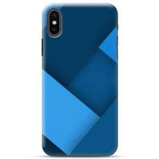 """Iphone Xs MAX TPU dėklas unikaliu dizainu 1.0 mm """"u-case Airskin Blue design"""""""