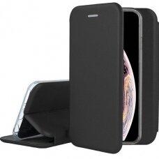 iphone x/xs atverčiamas dėklas Book elegance odinis juodas
