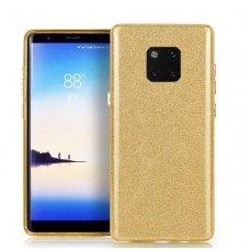 Huawei Mate 20 pro DĖKLAS GLITTER SILIKONINIS auksinis