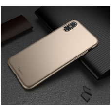 iphone x/xs DĖKLAS ipaky 360 model PRIEKINĖ, GALINĖ DALIS, GRŪDINTAS SIKLAS, PILNA 360 LAIPSNIŲ APSAUGA auksinis