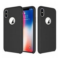 """iphone x/xs dėklas """"Liquid silicon""""  silikonas juodas"""