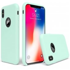 """iphone x/xs dėklas """"Liquid silicon""""  silikonas žalsvas"""