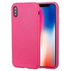iphone xs max DĖKLAS MERCURY GOOSPERY STYLE LUX TPU rožinis