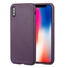 iphone xs max DĖKLAS MERCURY GOOSPERY STYLE LUX TPU violetinis