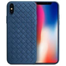 "iphone x/xs DĖKLAS ""N TOP S KNIT"" SILIKONAS MĖLYNAS"
