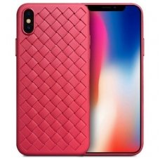 "iphone x/xs DĖKLAS ""N TOP S KNIT"" SILIKONAS raudonas"