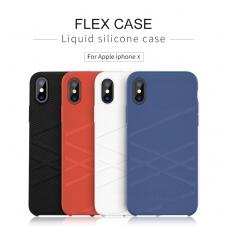 iphone x/xs dėklas nillkin flex silikonas baltas